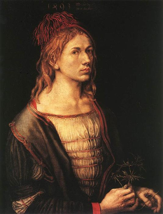 famous painting Self-portrait at 22 of Albrecht Durer