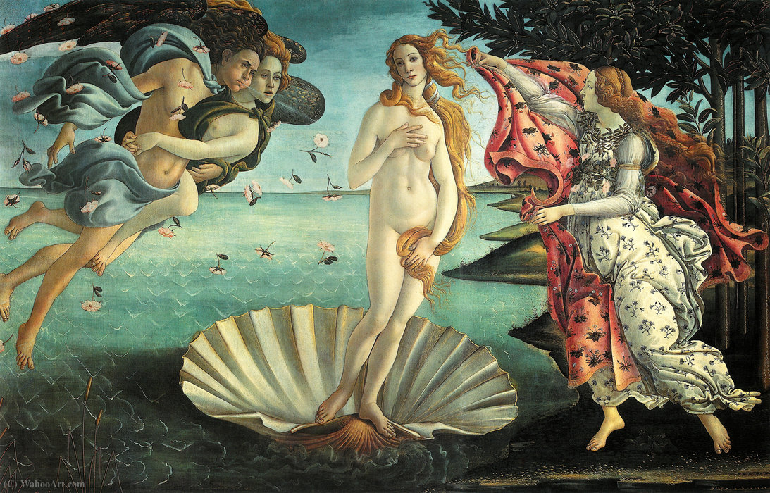 famous painting The Birth of Venus of Sandro Botticelli