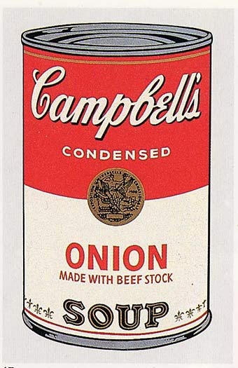 famous painting Campbell'S Soup Can (onion) of Andy Warhol