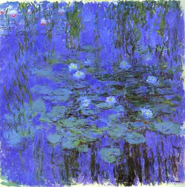 famous painting Blue Water Lilies of Claude Monet