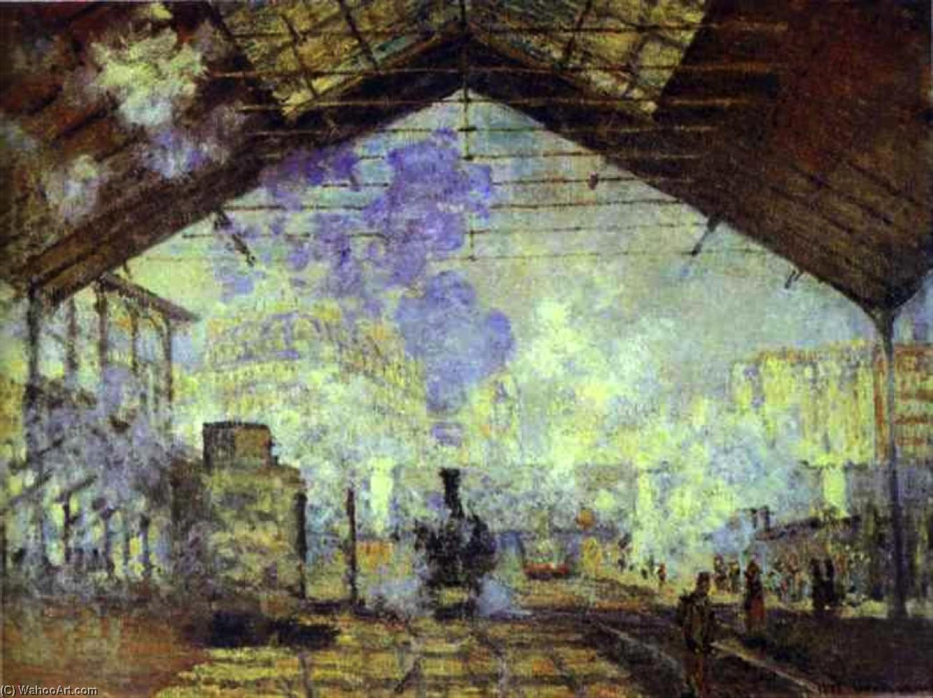 famous painting Gare Saint Lazare, Pari of Claude Monet