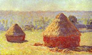 Claude Monet - Haystack. End of the Summer. Morning