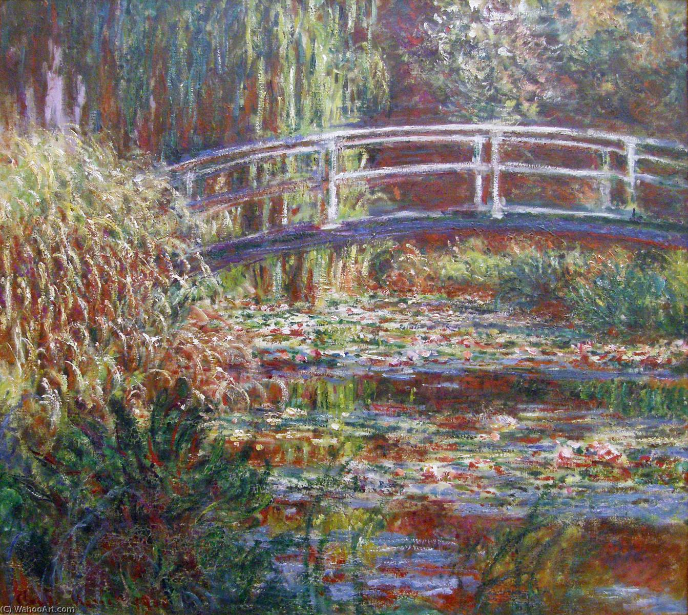 famous painting The Water Lily Pond, Pink Harmony of Claude Monet