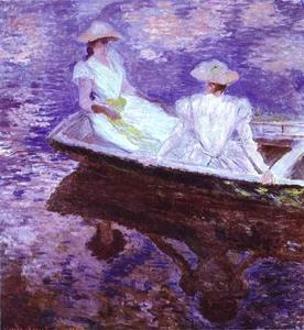 Claude Monet - Young Girls in a Boat