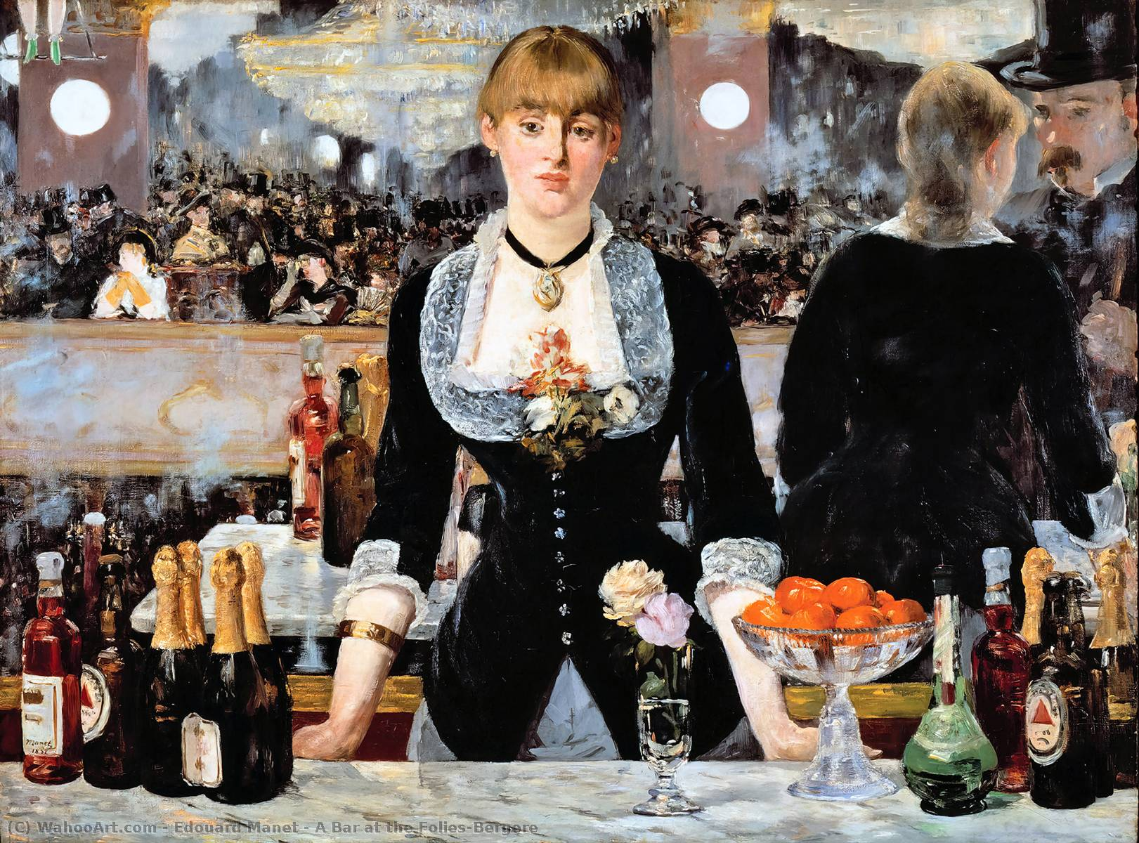 famous painting A Bar at the Folies-Bergere of Edouard Manet