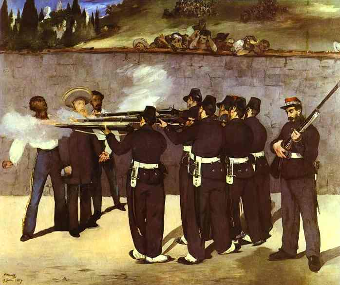 famous painting The Execution of the Emperor Maximilian of Mexico of Edouard Manet