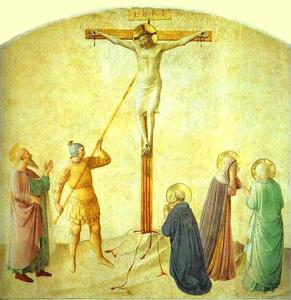 Fra Angelico - St. Dominic with the Crucifix - Piercing of the Christ's Side