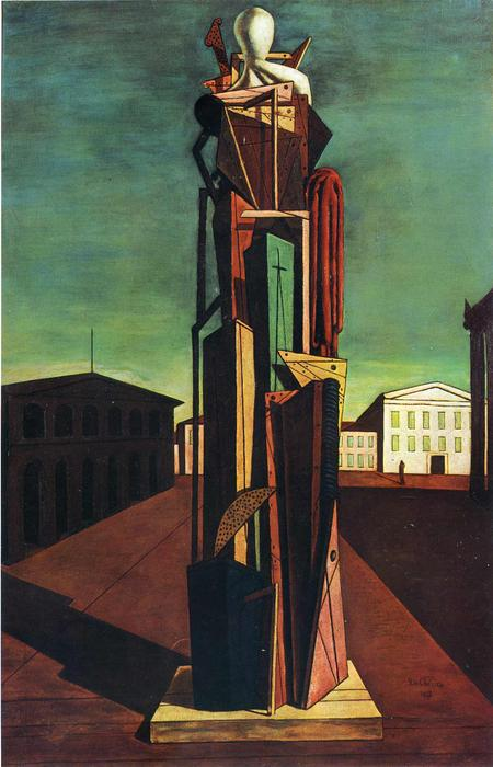 famous painting The Great Metaphysician of Giorgio De Chirico