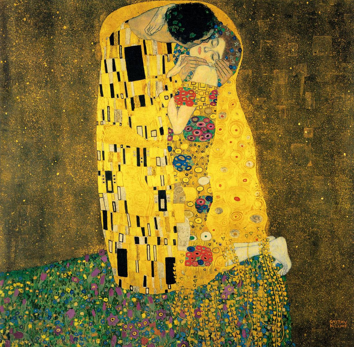 Order Art Reproductions : The Kiss (Bacio) by Gustav Klimt | AllPaintingsStore.com