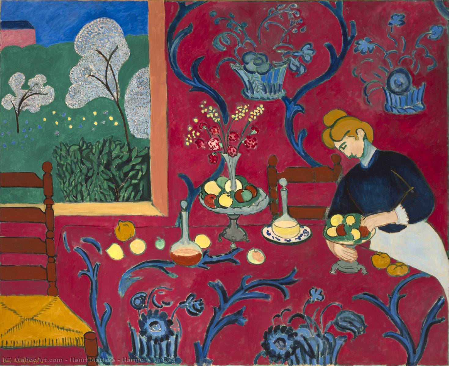 famous painting Harmony in Red of Henri Matisse