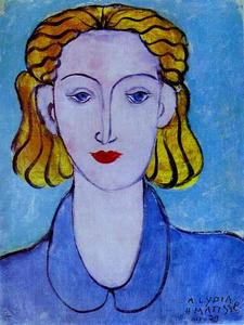 Henri Matisse - Young Woman in a Blue Blouse (Portrait of Lydia Delectorskaya, the Artist's Secretary)