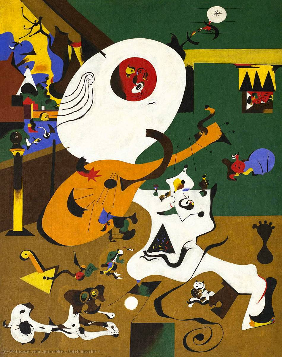 famous painting Dutch Interior I of Joan Miro