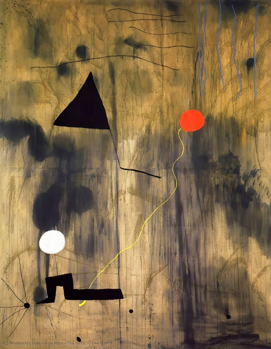 famous painting The Birth of the World of Joan Miro