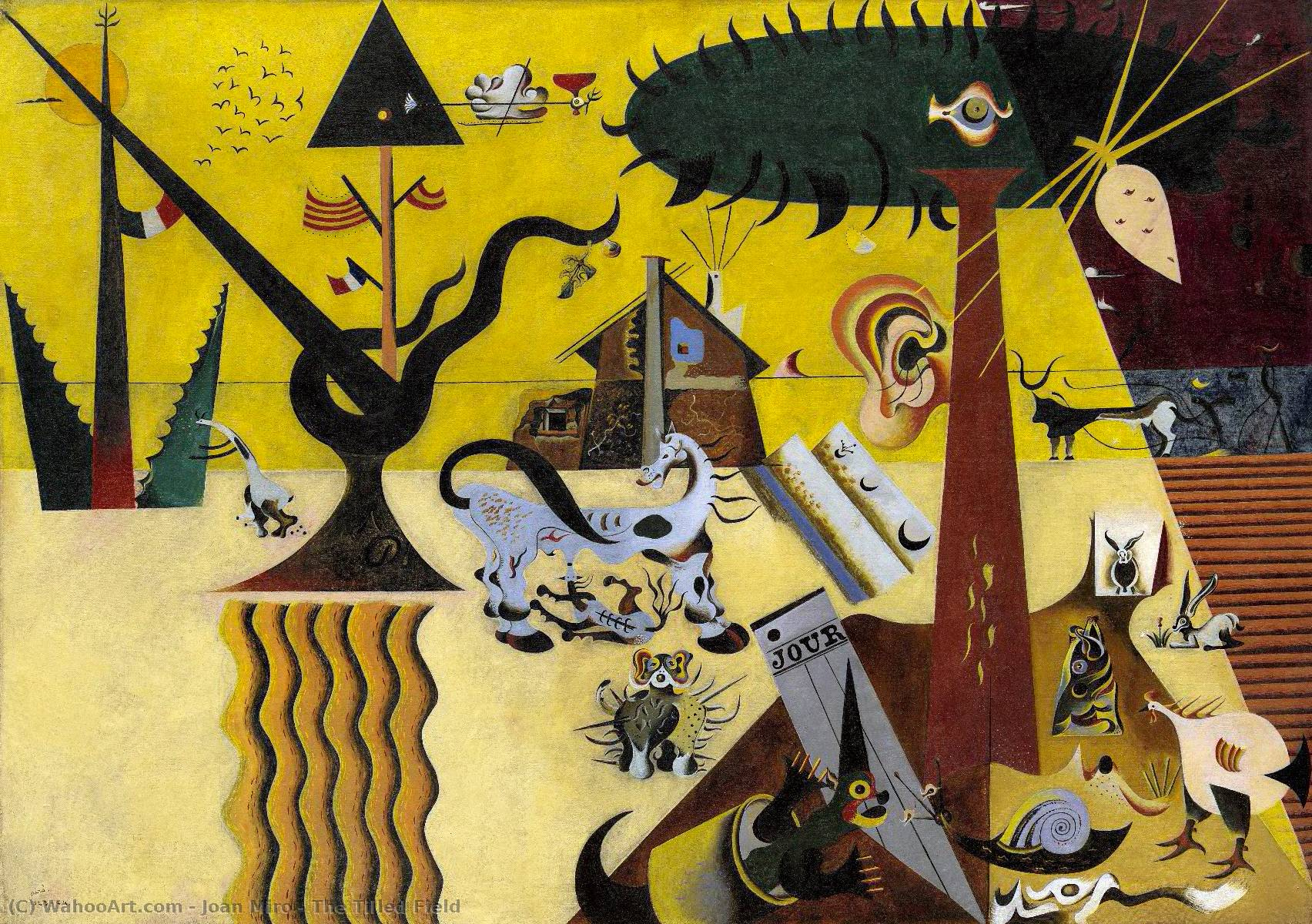 famous painting The Tilled Field of Joan Miro