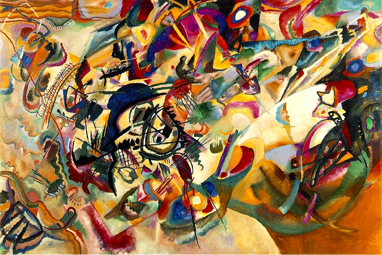 famous painting Composition VII of Wassily Kandinsky