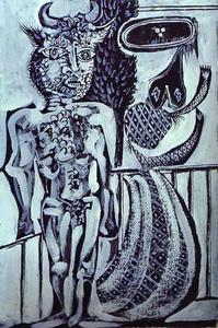 Pablo Picasso - Minotaur and His Wife