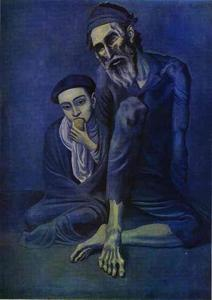 Pablo Picasso - Old Beggar with a Boy
