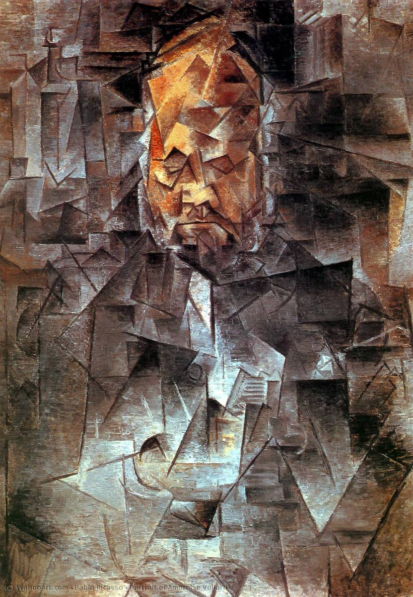 | Portrait of Ambroise Vollard by Pablo Picasso | AllPaintingsStore.com