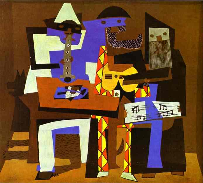 famous painting Three Musicians of Pablo Picasso