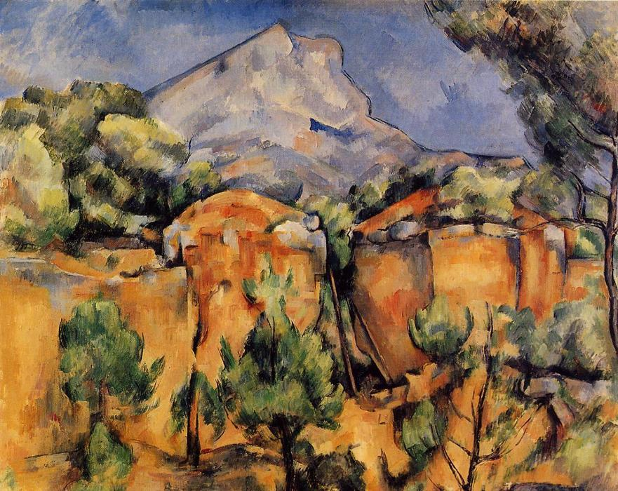 famous painting Mont Sainte-Victoire Seen from the Bibemus Quarry of Paul Cezanne