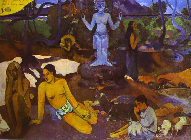 famous painting D'où venons nous Que sommes-nous Où allons-nous (Where Do We come from. What Are We. where Are We Going) of Paul Gauguin