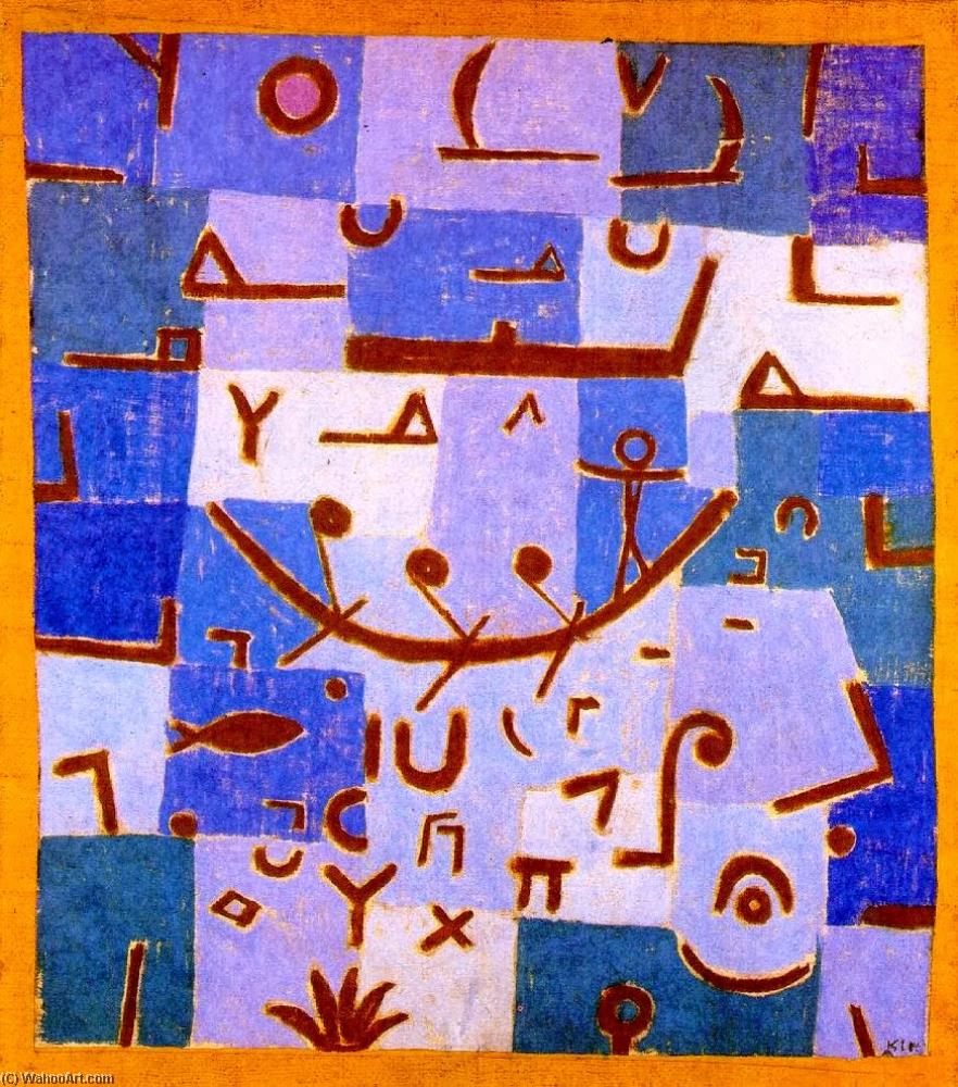 Order Oil Painting : Legend of the Nile by Paul Klee | AllPaintingsStore.com