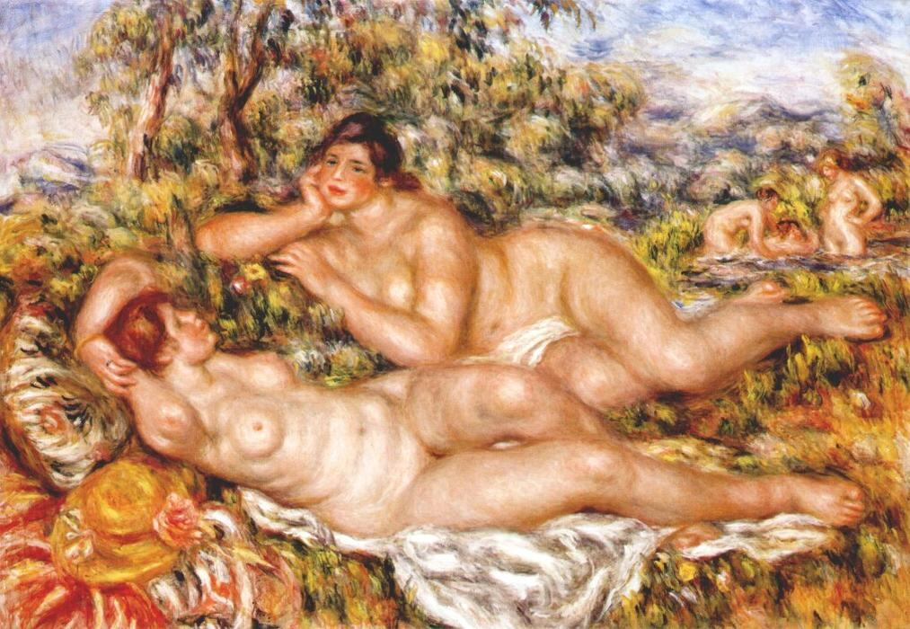 Order Paintings Reproductions | The Great Bathers (The Nymphs) by Pierre-Auguste Renoir | AllPaintingsStore.com