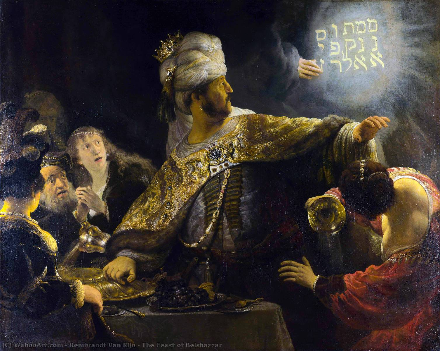 famous painting The Feast of Belshazzar of Rembrandt Van Rijn