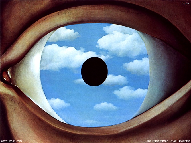famous painting False Mirror of Rene Magritte