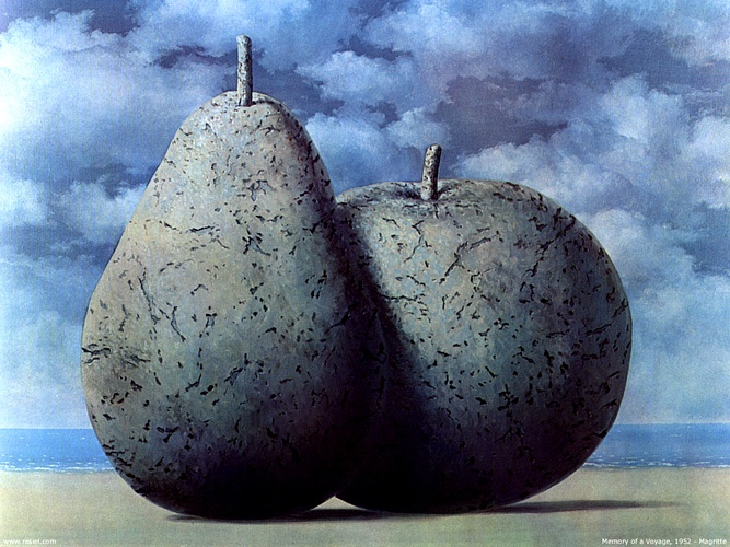 famous painting Memory Of A Voyage of Rene Magritte