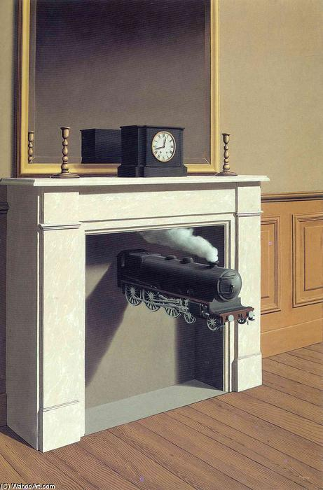 Buy Museum Art Reproductions : Time transfixed by Rene Magritte | AllPaintingsStore.com