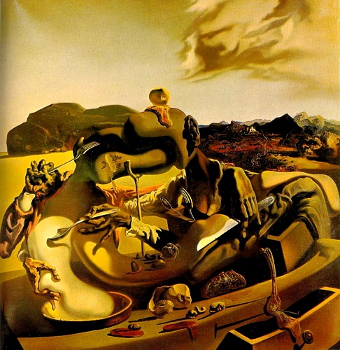 famous painting Autumn Cannibalism of Salvador Dali