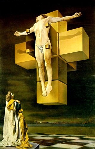 famous painting Crucifixion (Hypercubic Body) of Salvador Dali