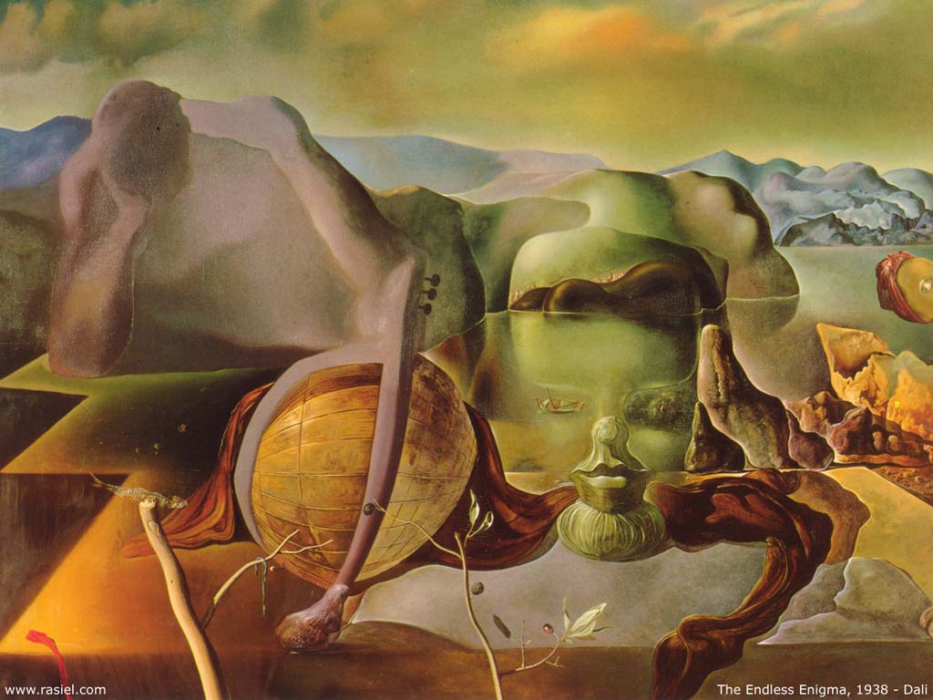 Order Oil Painting : The Endless Enigma by Salvador Dali | AllPaintingsStore.com
