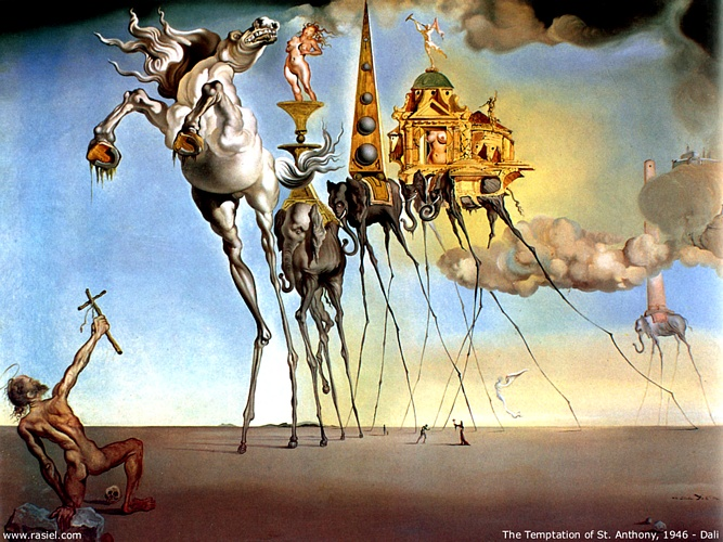 famous painting The Temptation Of Saint Anthony of Salvador Dali