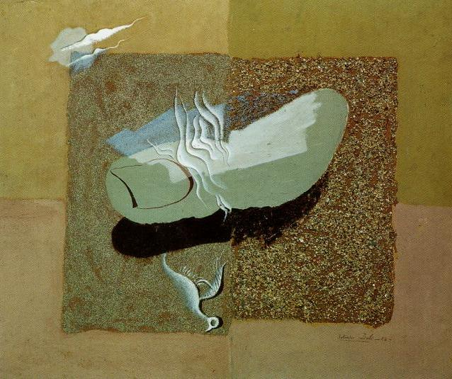famous painting The Wounded Bird, 1928 of Salvador Dali