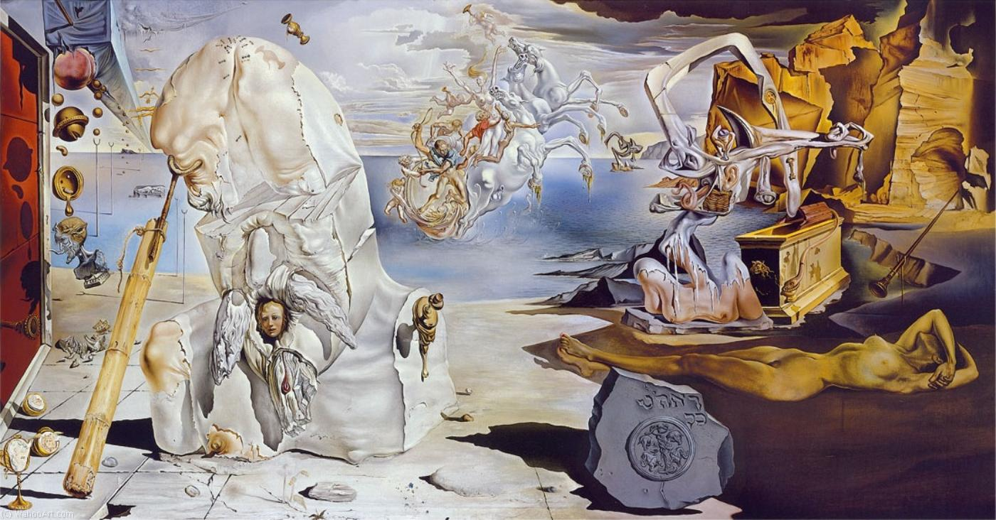 famous painting The Apotheosis of Homer, 1944-45 of Salvador Dali