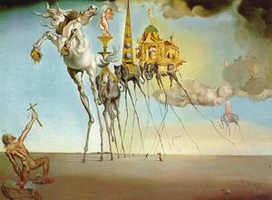 Salvador Dali - The Temptation of Saint Anthony, 1946