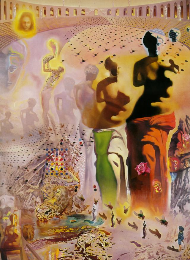 famous painting The Hallucinogenic Toreador, 1968-70 of Salvador Dali