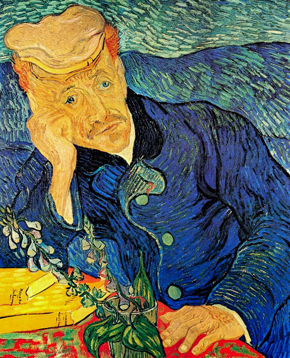 famous painting Portrait of Dr. Gachet of Vincent Van Gogh