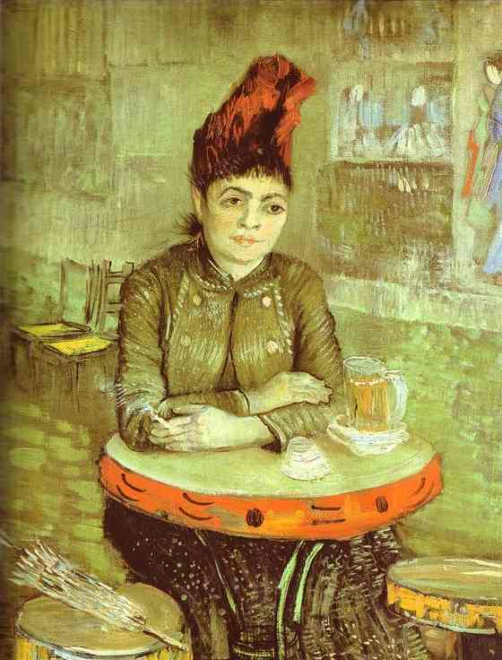 famous painting Agostina Segatori in the Café du Tambourin of Vincent Van Gogh