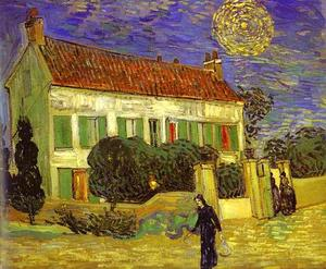 Vincent Van Gogh - The White House at Night (La maison blanche au nuit)