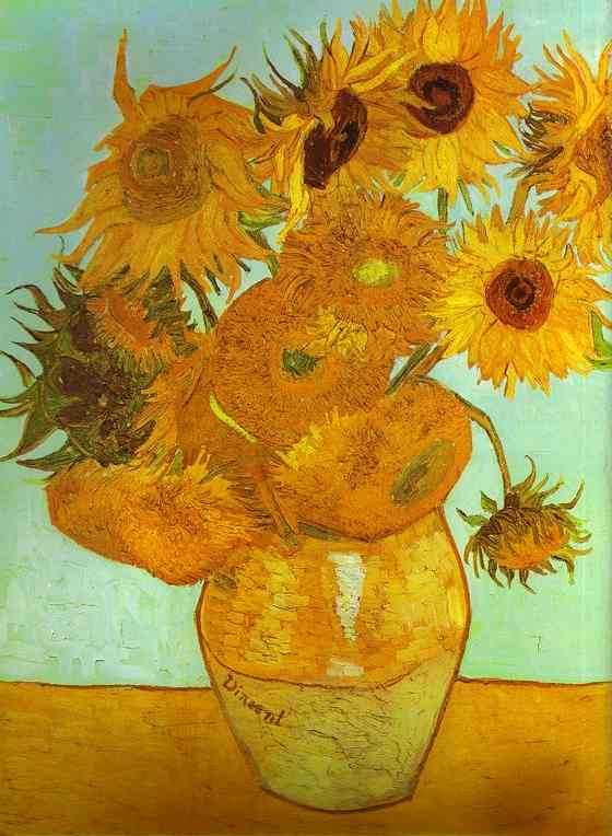 Twelve Sunflowers In A Vase By Vincent Van Gogh Oil Painting