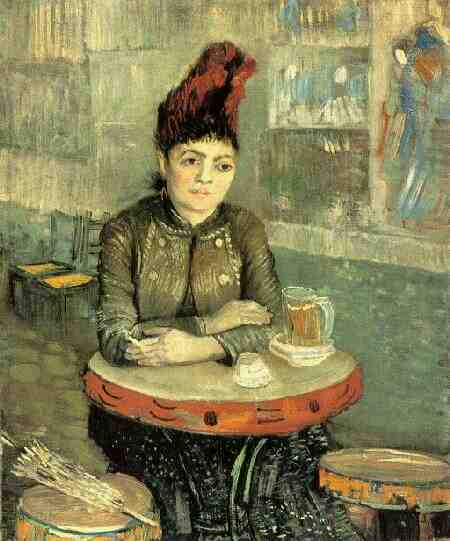Order Art Reproductions | Agostina Segatori Sitting in the Cafe du Tambourin by Vincent Van Gogh | AllPaintingsStore.com