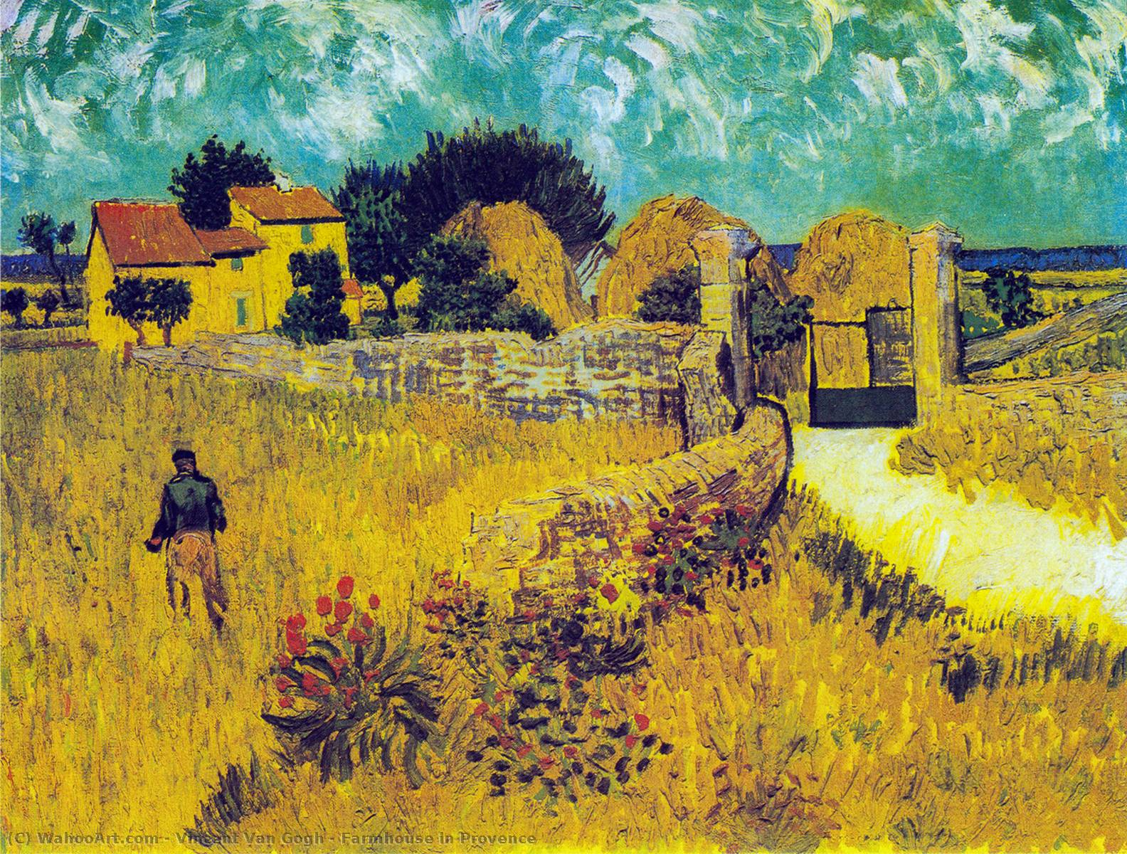 famous painting Farmhouse in Provence of Vincent Van Gogh
