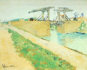 Vincent Van Gogh - Langlois Bridge at Arles with Road Alongside the Canal, The