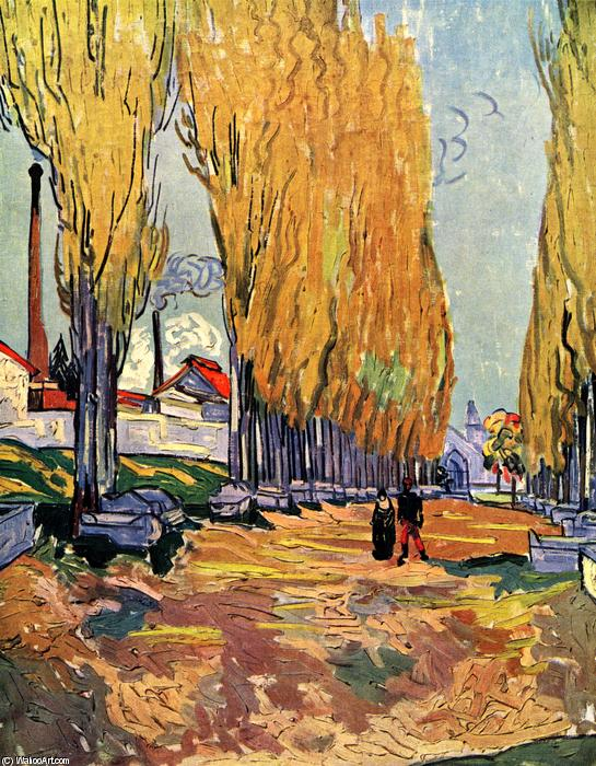 famous painting Les Alyscamps of Vincent Van Gogh