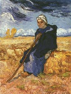 Vincent Van Gogh - Shepherdess, The after Millet