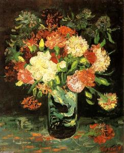 Vincent Van Gogh - Vase with Carnations