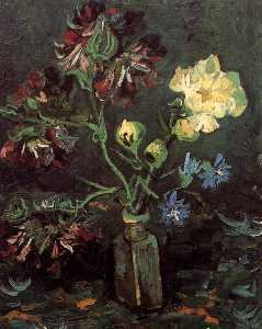 Vincent Van Gogh - Vase with Myosotis and Peonies